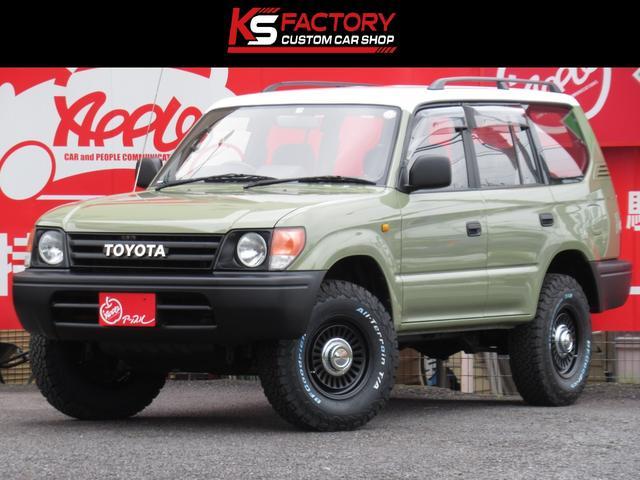 トヨタ ランドクルーザープラド TX 3.0DT 4WD 丸目 ルーフレール 新品DEENカリフォルニア16インチAW 新品BFAT 背面タイヤ 寒冷地仕様 オールペン