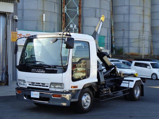 いすゞ フォワード  アームロール ツインホイスト 積載3850kg 外装仕上げ済み