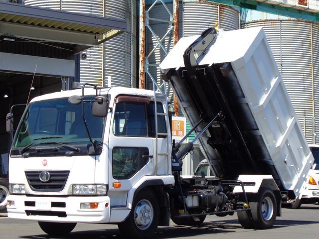 UDトラックス コンドル  アームロール 極東開発フックロール ツインホイスト 最大積載3700kg JM04-53モデル