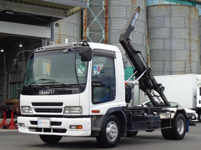 いすゞ フォワード  新明和 アームロール ツインホイスト 積載4050kg 外装仕上げ済み