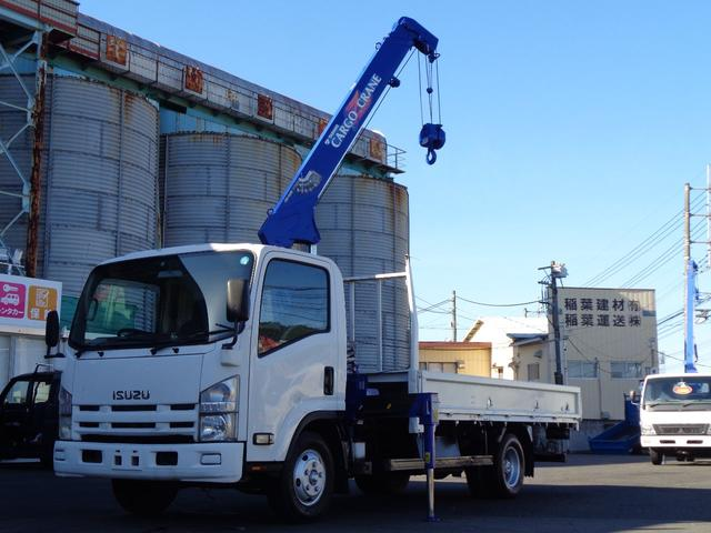 いすゞ エルフトラック 超ロング タダノ3段ラジコンクレーン ZR263モデル 積載2トン 床板鉄板 超ロング 荷台内寸長さ409cm幅207cm 荷台再塗装仕上済み