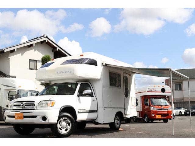 米国トヨタ タンドラ  セントラル自動車 エクスクルーザー 4WD ルーフエアコン FFヒーター 発電機 シンク IHヒーター 電子レンジ 冷蔵庫 オーニング