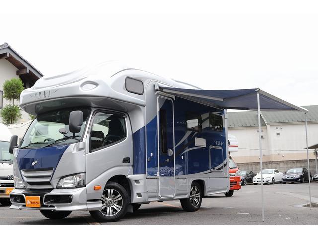 トヨタ  ナッツRV製クレア5.3Xエボリューション 3.0DT 4WD 1オーナー 3サブ 家庭用AC FF ソーラー オーニング インバーター シンク コンロ 冷蔵庫 レンジ トイレ OPシルバー塗装
