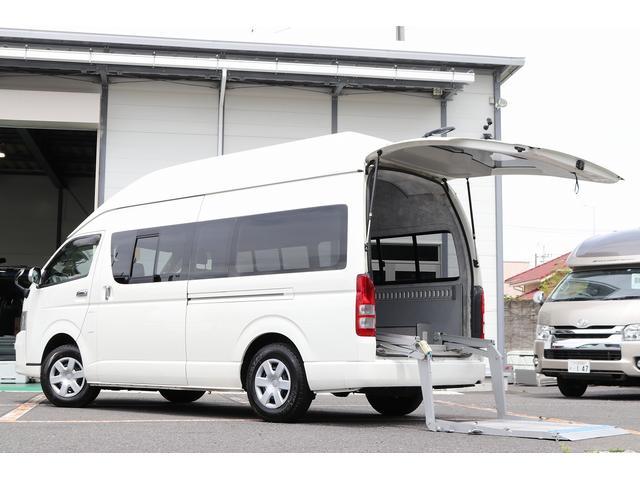 トヨタ  スーパーハイルーフ トランポ仕様 4WD ETC バックカメラ キーレス 外部電源 ツインサブバッテリー 2000Wインバーター FFヒーター リヤNLKカーリフト最大荷重400Kg