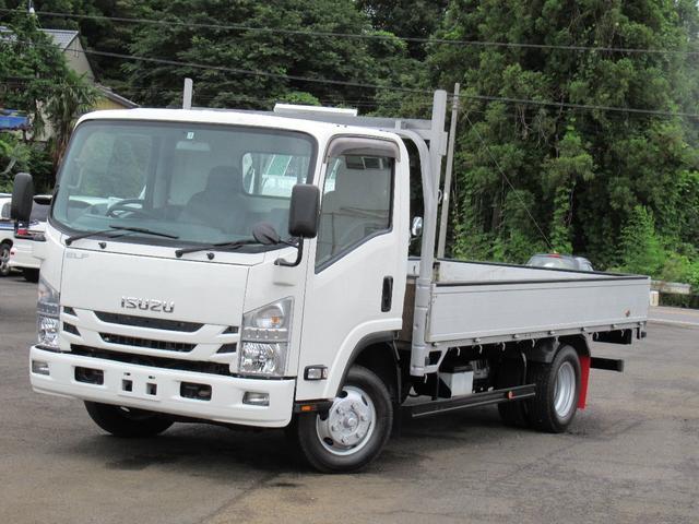 いすゞ エルフトラック ロング アルミ平ボデイ ワイドロング 4WD  ETC   2トン
