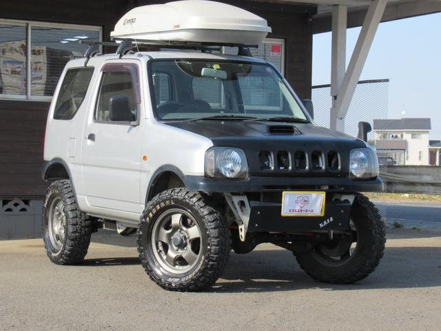 スズキ ジムニー XA 5速マニュアル 4WD リフトアップ ワンオーナー ターボ 平成15年〜令和1年まで点検整備記録簿あり SDナビ フルセグTV BLUETOOTH