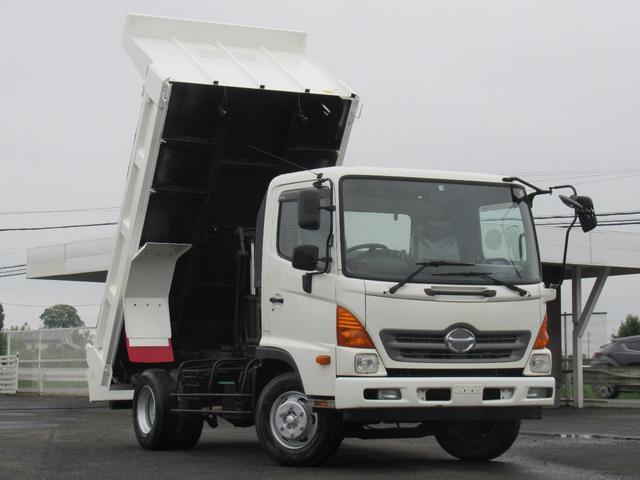 日野 ダンプ 3.5tダンプ 5万キロ H23 AT 用荷台シート付 車検付