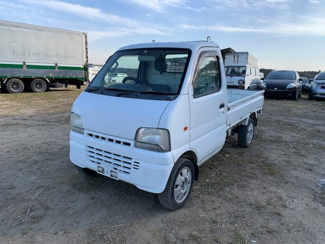 スズキ KU 3方開 5MT 軽トラック AW ホワイト F6A SOHC 12V