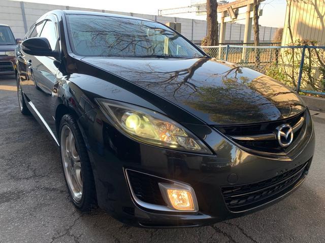 マツダ アテンザスポーツワゴン 25Z ・ABS・ETC・HIDヘッドライト・ハーフレザーシート・パドルシフトAT