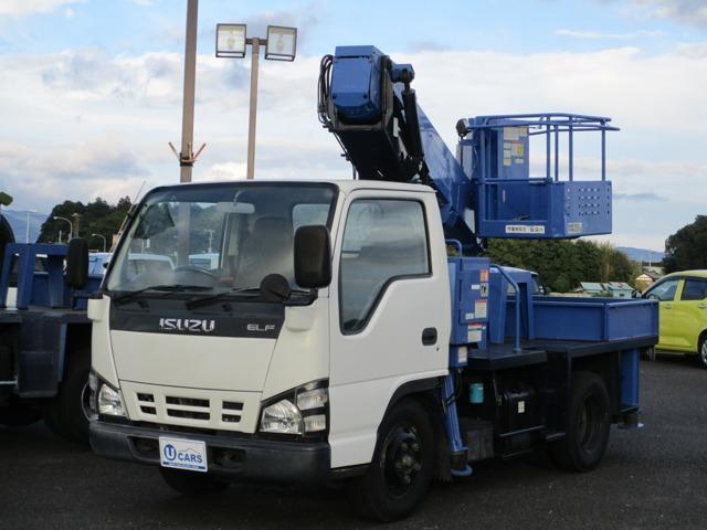 いすゞ エルフトラック  タダノ9.9m高所作業車 バケット積載200キロ キーレス