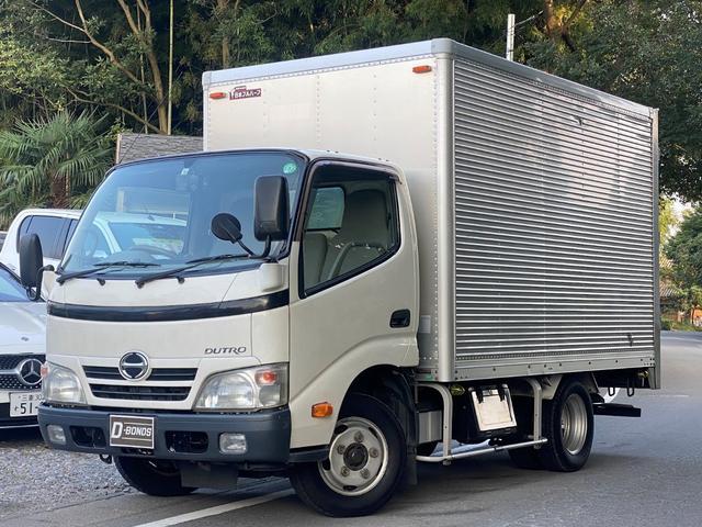 日野  アルミバン・積載2トン・5速マニュアル・ディーゼルターボ・電動格納ミラー・ラッシングレール2段・バックカメラ・ETC