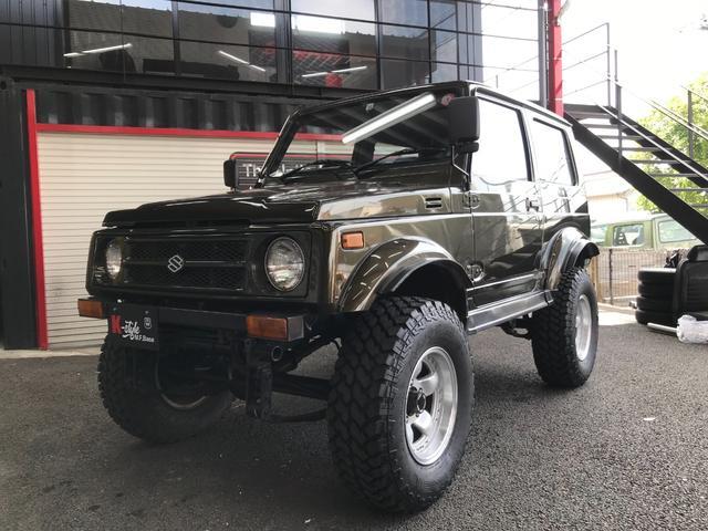 スズキ  JB31W改 4WD マニュアル5速 リフトアップ バンパー 社外アルミ MTタイヤ LEDテール オーバーフェンダー 社外マフラー 社外ハンドル