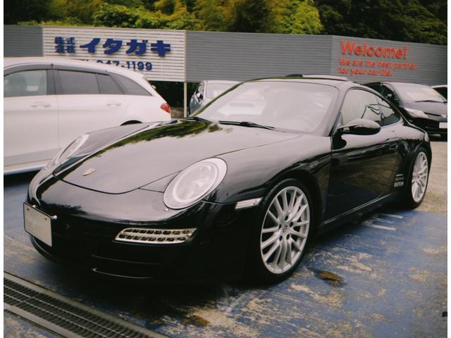 ポルシェ 911カレラ 911カレラ(4名) 純正オプション19インチアルミホイール HDDナビ フルセグ 本革シート 社外911ルックヘッドライト カレラSタイプ4本出しマフラー クァンタム車高調 社外LEDテールランプ