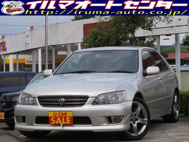 トヨタ アルテッツァ RS200 リミテッドIIナビパッケージ /後期型/MTモード付ステアシフトオートマ/純正ナビ付/HIDヘッドライト/純正17インチアルミ/禁煙車/タイミングベルト交換済み