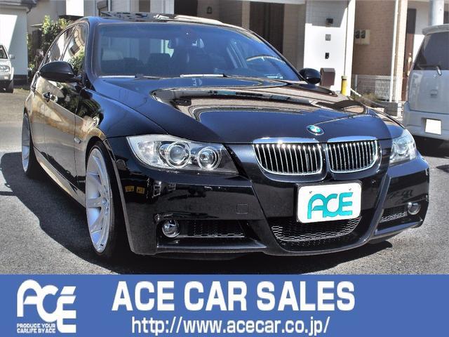 BMW 323iMスポーツP左ハン黒革サンルーフ記簿19アルミ車高調