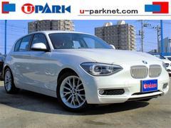 BMW116i プラスpkg 白革 HDDナビ スマK 1オーナー