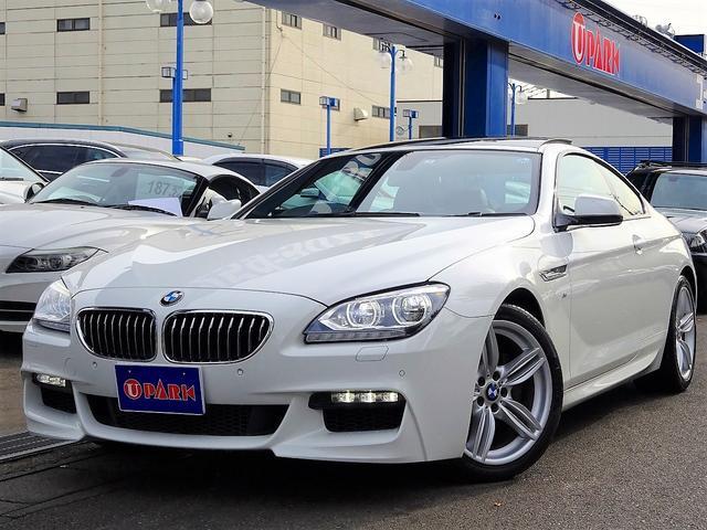 BMW 640iクーペ Mスポーツpkg SR 黒革 i-Drive