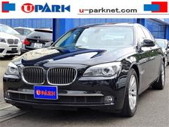 BMW740i プラスpkg 1オナ 黒革 SR iDriveナビ