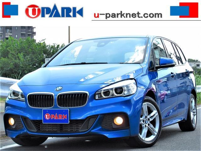 BMW 2シリーズ 218iグランツアラー Mスポーツ 黒革・インテリS・NEWiDriveナビ・Bカメラ・BTオーディオ・MSV・USB・AUX・DVD再生・シートヒーター・アイドリングSTOP・ETC・17AW・コーナーセンサー・LEDライト