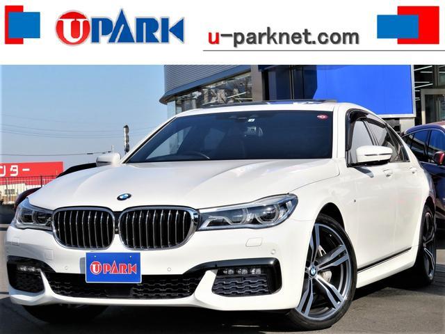 BMW 740i Mスポーツ 黒革・SR・オプション20AW・リモートパーキング・ジェスチャーC・ACC・インテリS・BSM・HUD・全周囲3Dカメラ・Pシフト・ハーマンカードンS・Sベンチレーション・マッサージシート・Rシェード