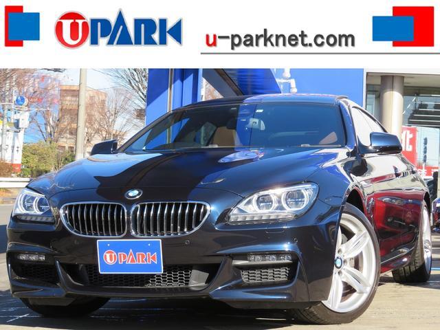 BMW 6シリーズ 640iグランクーペ Mスポーツpkg・茶革・SR・インテリS・NewiDriveナビ・Bカメラ・DTV・BTオーディオ・USB・AUX・メモリー付きパワーシート・シートヒーター・ETC・LED・Cソナー・純正19AW