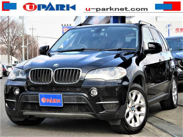 BMW X5 xDrive 35dブルーパフォーマンス 後期型・黒革シート・HUD・iDriveナビ・トップビューカメラ・BTオーディオ・USB・AUX・DTV・DVD再生・MSV・ヒーター付パワーシート・オートクルーズ・コーナーセンサー・19AW・HID