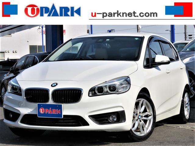 BMW 218iアクティブツアラーセレブレションEDファッシ ベージュ革・インテリS・NewiDriveナビ・Bカメラ・LEDライト・LDW・ETC・Cソナー・BTオーディオ・AUX・USB・シートヒーター・スマキー・アイドリングストップ・ドアバイザー・記録簿