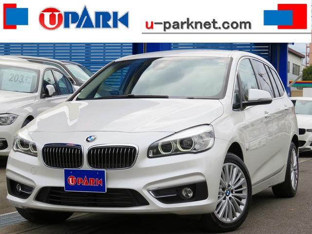 BMW 218dグランツアラー ラグジュアリー インテリS・ACC・HUD・NewiDriveナビ・Bカメラ・ベージュ革・LDW・ETC・Cソナー・17AW・LEDライト・ドラレコ・シートヒーター・オートライト・BTオーディオ・AUX・USB