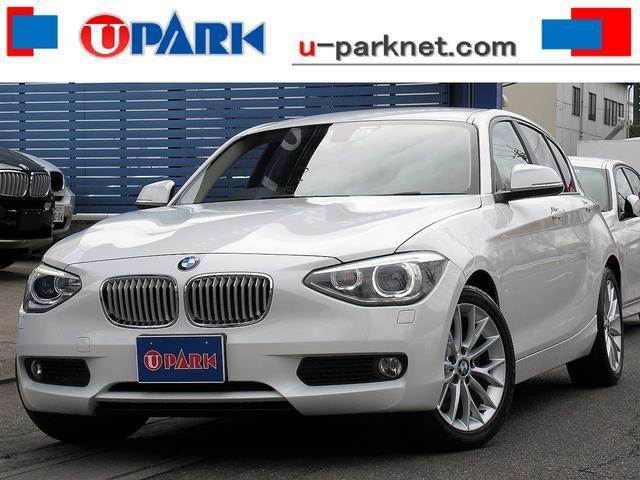 BMW 116i ファッショニスタ ベージュ革・iDriveナビ・Bカメラ・HIDライト・Cソナー・ETC・スマキー・BTオーディオ・AUX・USB・17AW・シートヒーター・オートライト・本革ステア・アイドリングストップ・記録簿