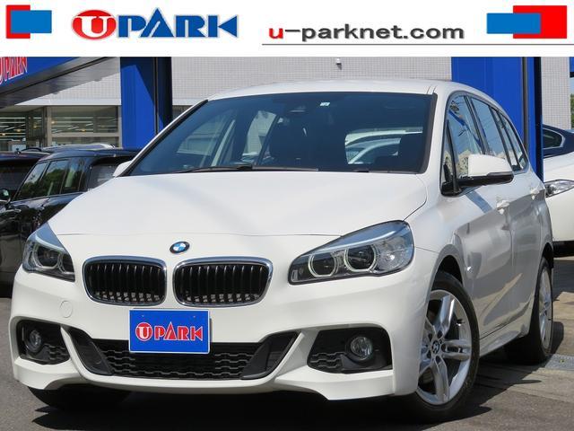 BMW 218dグランツアラー Mスポーツ インテリS・NewiDriveナビ・Bカメラ・ETC・Cソナー・LEDライト・スマキー・17AW・BTオーディオ・AUX・USB・Pバックドア・アイドリングストップ・本革ステア・記録簿