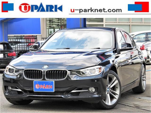 BMW 3シリーズ 328iスポーツ iDriveナビ・Bカメラ・DTV・クルコン・HIDライト・ETC・スマキー・18AW・BTオーディオ・AUX・USB・Pシート・アイドリングストップ・ミラーウィンカー・本革ステア・記録簿