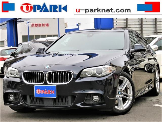 BMW 523d Mスポーツ 後期・ACC・インテリS・BSM・NewiDriveナビ・DTV・Bカメラ・スマキー・Cソナー・LDW・HIDライト・ETC・18AW・BTオーディオ・AUX・USB・オートワイパー・記録簿