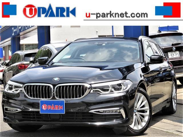 BMW 5シリーズ 523dツーリング ラグジュアリー 黒革・3Dビューカメラ・ACC・インテリS・NewiDriveナビ・DTV・Cソナー・LEDライト・BSM・LDW・Pバックドア・スマキー・シートヒーター・BTオーディオ・USB・記録簿