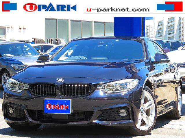 BMW 4シリーズ 420iグランクーペ Mスポーツ ACC・インテリS・NewiDriveナビ・Bカメラ・LEDライト・Pバックドア・LDW・スマキー・ETC・パドルシフト・Cソナー・18AW・BTオーディオ・AUX・USB・記録簿