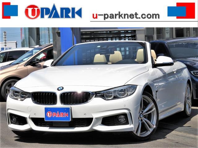 BMW 4シリーズ 435iカブリオレ Mスポーツ 左H・インテリS・ACC・ベージュ革・HUD・NewiDriveナビ・Bカメラ・DTV・LEDライト・19AW・パドルシフト・Cソナー・LDW・スマキー・BTオーディオ・USB・AUX・記録簿