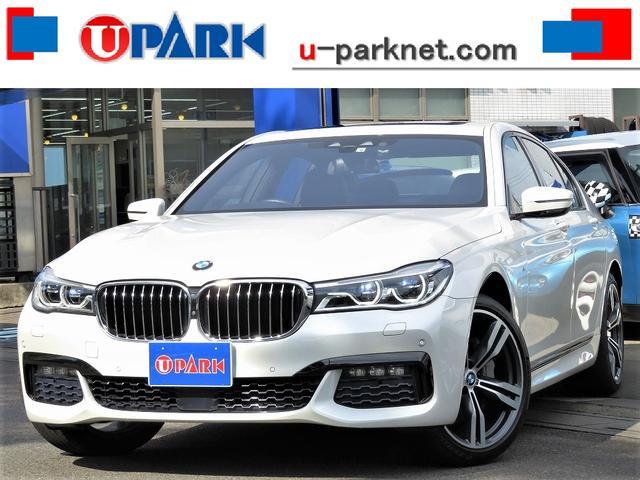 BMW 740i Mスポーツ 3Dビューカメラ・SR・黒革・OP20AW・harman/kardon・Cソナー・LEDライト・ACC・LDW・パドルシフト・Pバックドア・Rシェード・DTV・ベンチレーションシート・記録簿