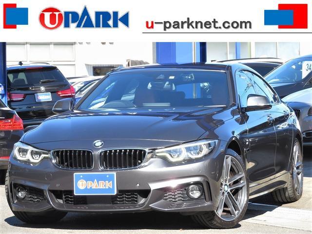 BMW 4シリーズ 420iグランクーペ Mスポーツ 後期・インテリS・ACC・茶革・OP19AW・MDメーター・LEDライト・BSM・NewiDriveナビ・Bカメラ・DTV・Cソナー・ETC・パドルシフト・Pバックドア・ドラレコ・スマキー・