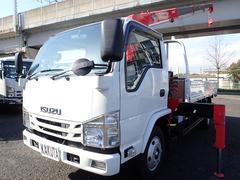 エルフトラック2.6t吊4段クレーン 高床ロング 積載3t