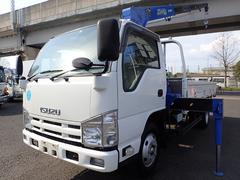 エルフトラック2.6t吊4段クレーン ロング高床 積載2t