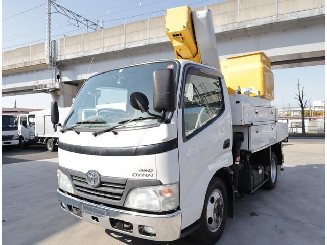 トヨタ ダイナトラック 高所作業車 アイチ 9.7m 電工仕様 4WD