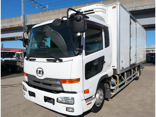 UDトラックス 低温冷凍車 パワーゲート ベッド付 積載2.7t
