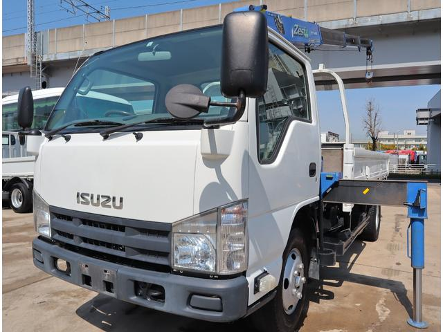 いすゞ エルフトラック 2.6t吊4段クレーン 高床ロング ラジコン付 積載2t