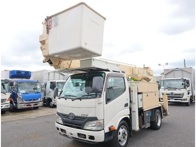 トヨタ ダイナトラック アイチ 14.6m 電工仕様 絶縁バケット200kg