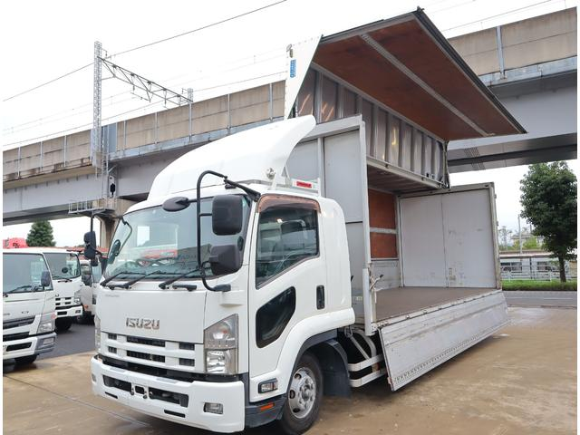 いすゞ ワイド ベッド付 エアサス 格納ゲート 6.2m 240馬力