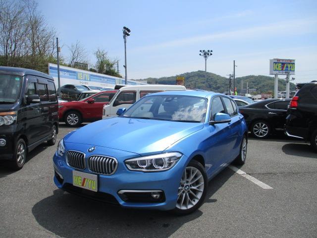 BMW 118i ファッショニスタ 禁煙 衝突被害軽減 レーンアシスト アイドリングストップ コーナーセンサー 純正メモリーナビ CD DVD Bluetooth バックカメラ ETC シートヒーター LED 純正17AW 横滑り防止