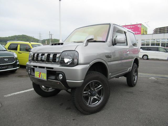 スズキ ランドベンチャー 5MT 4WD リフトアップ 社外テール 背面タイヤ ミラーヒーター フル装備 CD USB BTオーディオ キーレス 革巻きステア ハーフレザー シートヒーター HID 純正AW 電格ミラー