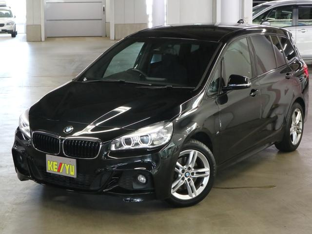 BMW 218dグランツアラー Mスポーツ ディーゼルターボ ドライビングアシスト パワーバックドア iDriveナビ バックカメラ Bluetoothオーディオ DVD ETC2.0 パーキングセンサー 専用シート LEDヘッドライト 禁煙車