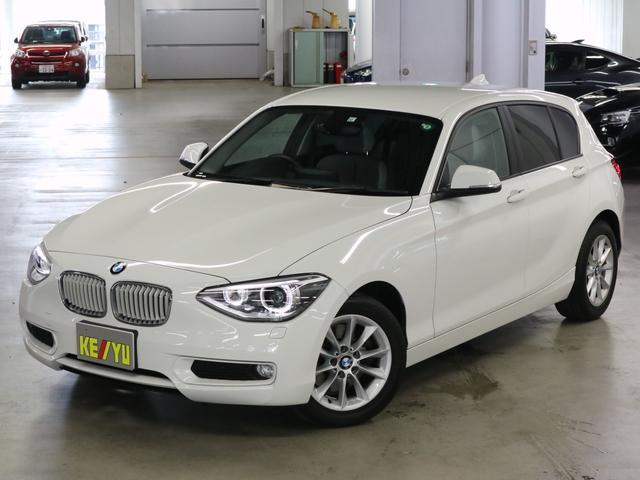 BMW 1シリーズ 116i スタイル ハーフレザーシート iDriveナビ ETC USB・AUX CD・DVD アイドリングストップ SPORTモード HIDオートライト 純正ランフラット・16AW スペアキー・取扱説明書・記録簿 禁煙