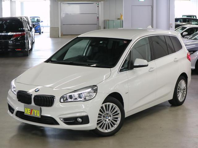 BMW 218iグランツアラー ラグジュアリー ドライビングアシスト 電動黒レザーシート シートヒーター パーキングセンサー パワーバックドア iDrive バックカメラ Bluetooth DVD ETC LEDライト アイドリングストップ 禁煙