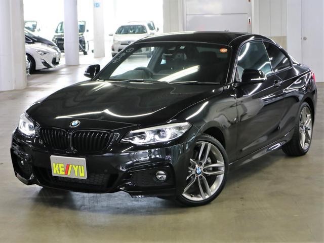 BMW 220iクーペ Mスポーツ ドライビングアシスト シートヒーター アルカンタラコンビシート パーキングアシスト・ソナー iDrive Bluetooth DVD ETC クルコン パドルシフト 純正18AW・ランフラット 禁煙車